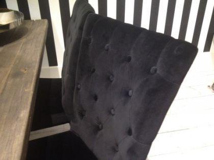 Exklusiver Stuhl im Landhausstil, Farbe schwarz - Vorschau 2