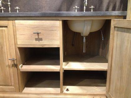 Doppelter Waschtisch im Landhausstil mit dem Spiegel inkl. Armaturen - Vorschau 4