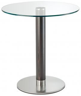 Designer Tisch aus Glas und Metall