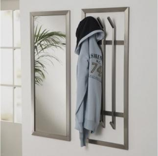 Wandgarderobe, moderne Garderobe mit 6 Haken, Edelstahl, Höhe 100 cm - Vorschau 2