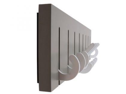 Kleiderhaken MDF Metall grau verstellbar