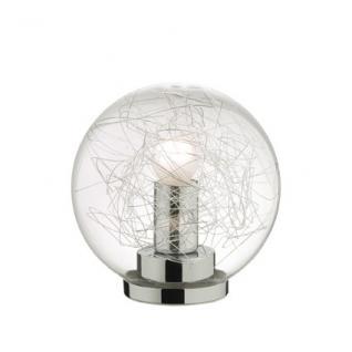 Tisch-/Bodenleuchte Metall chrom Glas transparent Aludraht - Vorschau
