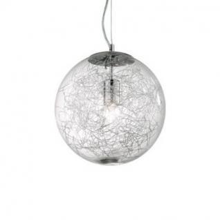 Pendelleuchte Metall chrom, Glas transparent - Vorschau