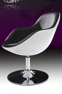 Design Sessel modern in weiß / schwarz - Vorschau 3