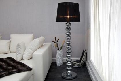 Moderne Stehleuchte mit einem Lampenschirm, Farbe leinen-creme, 154 cm Höhe - Vorschau 3