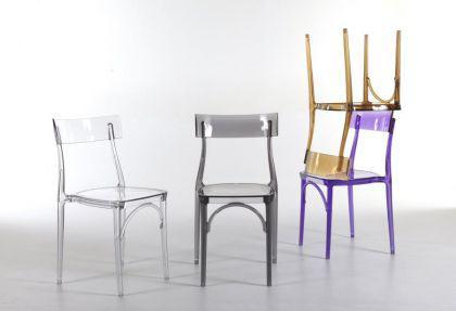 Design Stuhl Classic, Farbe violett transparent
