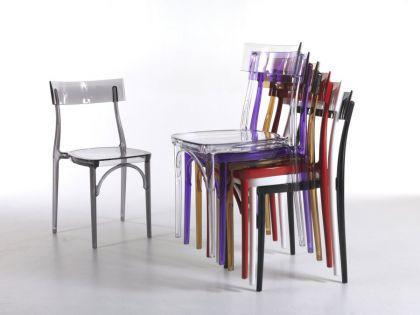 Design Stuhl Classic, Farbe grau transparent