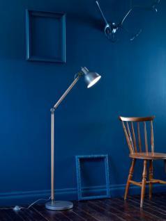 Design Stehleuchte, moderne Stehlampe mit einem aluminium Lampenschirm, Ø 26 cm
