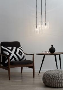 Design Pendelleuchte, moderne Pendellampe mit drei Lampenschirmen, Ø 40 cm