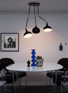 Design Deckenleuchte, moderne Deckenlampe mit drei Lampenschirmen, Ø 55 cm