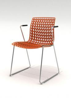 Design-Stuhl mit Armlehne in sieben Farben - Vorschau 4