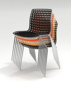 Design-Stuhl mit Armlehne in sieben Farben - Vorschau 3