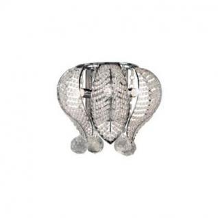 Wandleuchte Metall chrom, Kristall transparent, modern