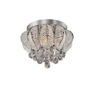 Deckenleuchte Metall chrom, Kristall transparent, modern