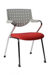 Design Bürostuhl in grau/rot modern - Vorschau 1