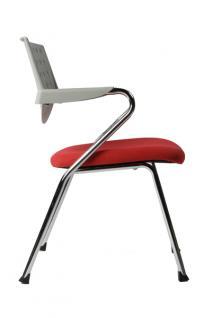 Design Bürostuhl in grau/rot modern - Vorschau 3