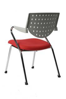 Design Bürostuhl in grau/rot modern - Vorschau 4