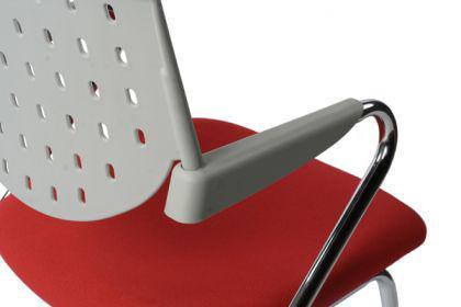 Design Bürostuhl in grau/rot modern - Vorschau 2