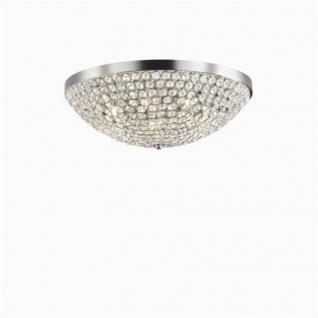 Wand- / Deckenleuchte Metall chrom, Kristall transparent, modern