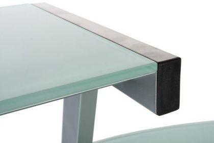 Design Bürotisch mit einer weiß Glasplatte - Vorschau 5