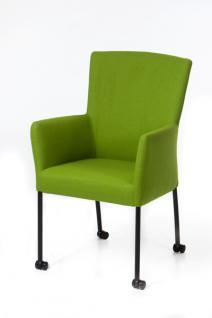 Moderner Stuhl auf Rollen, Farbe grün
