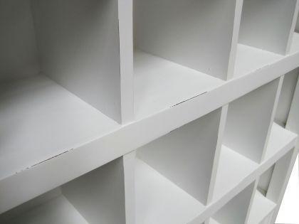 Regal / Schrank für CD und DVD im Landhausstil, in weiß - Vorschau 4