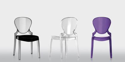 Design Stuhl Queen mit Polster - Vorschau 5