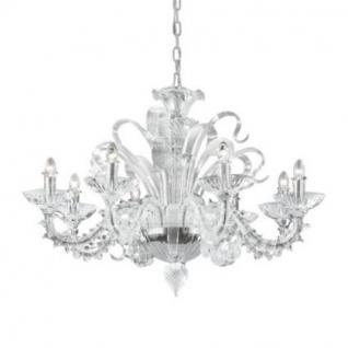 Kronleuchter Metall chrom Glas weiß oder transparent modern