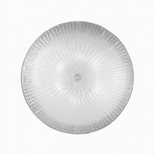 Wand- / Deckenleuchte Metall chrom Glas transparent