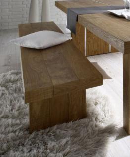 Bank, Sitzbank aus Massivholz Eiche, Länge 200 cm - Vorschau 1