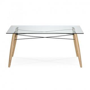 Tisch modern aus Holz Glas 180 x 90