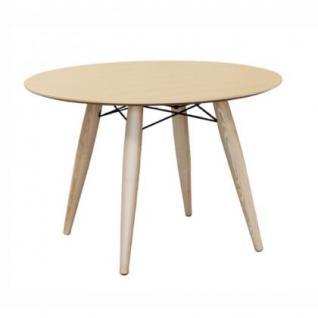 Tisch rund aus Holz Esche modern