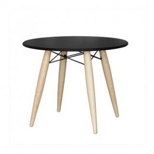 Tisch rund Holz Kunststoff Tischplatte modern