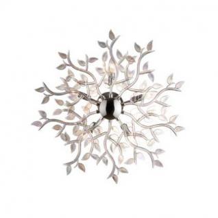 Wand- / Deckenleuchte Metall chrom, Glas transparent regenbogenschimmer, modern
