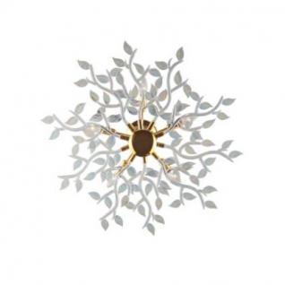 Wand- / Deckenleuchte Metall gold, Glas transparent regenbogenschimmer, modern