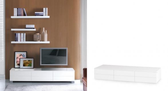 TV Schrank 180 cm Breite, Lowboard in zwei Farben weiss und schwarz
