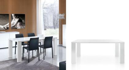 Design Esstisch, Breite 180 cm, in zwei Farben: weiß oder schwarz - Vorschau 1