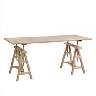 Höhenverstellbarer Schreibtisch Aus Eichenholz Massiv 175 Cm Länge