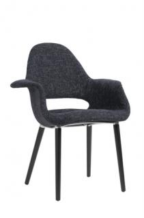 Designerstuhl mit Armlehne in zwei Farben