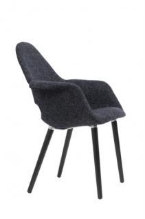 Designerstuhl mit Armlehne in zwei Farben - Vorschau 2
