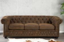 3-Sitzer Sofa im Chesterfield Look