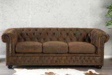 3-Sitzer Sofa im Chesterfield Look