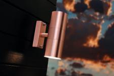 Wandleuchte Metall Kupfer Glas Outdoor