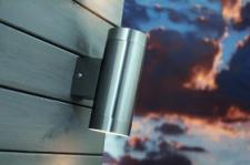 Wandleuchte rostfreier Edelstahl Glas Metall Outdoor