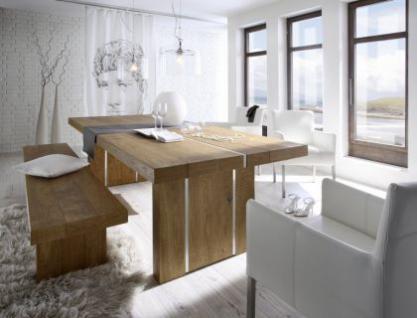 Esstisch, Tisch aus Massivholz Eiche, Länge 280 cm