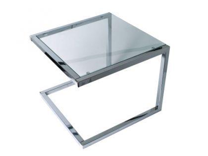 Beistelltisch Metall Chrom Glas Transparent Grau Kaufen Bei