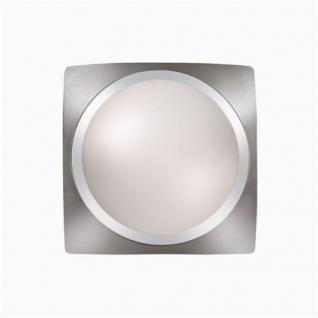 Wand- / Deckenleuchte Metall chrom nickel Glas weiß