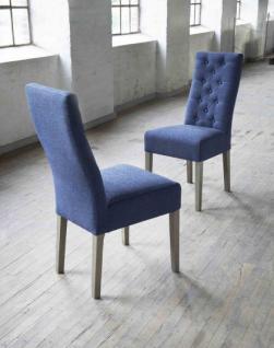 Stuhl im Landhausstil, geknöpft gepolstert, in zwei Farben