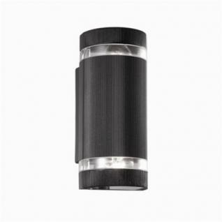 Outdoorleuchte Pirexglas transparent Alu-Spritzguss anthrazit weiß oder schwarz