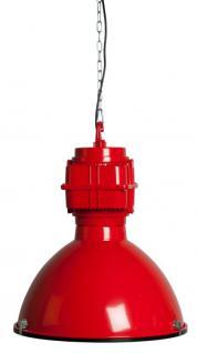 Pendelleuchte Fabrikart, Industriedesign Lampe, Farbe rot - Vorschau